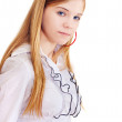 Portrait of the girl of fifteen years — Stock Photo