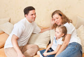 Spouses with the child — Stock Photo