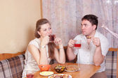 Spouses talk — Stock Photo