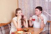 Spouses talk — Stock Photo