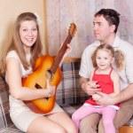 Musical family — Stock Photo