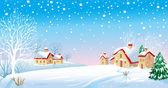 Winter Morning — Stock Vector