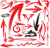 Conjunto de flechas manuscritas — Vector de stock