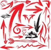Dizi el yazısı okları — Stok Vektör