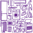Set of household appliances — Imagens vectoriais em stock