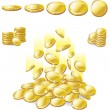 Stock Vector: Golden coin