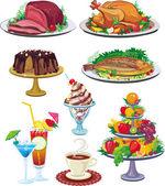 Conjunto de platos — Vector de stock