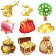 Set of icons on the financial theme - 