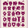 Royalty-Free Stock Vector Image: Robots, monsters, aliens collection #5.