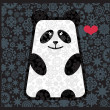 Royalty-Free Stock Vectorielle: Panda in love with flowers.