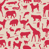 Animals pattern. — Stock Vector