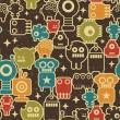 Robot and monsters seamless pattern. — Vetor de Stock  #4443574