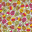 Royalty-Free Stock Vector Image: Matreshka doll seamless pattern.