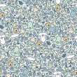 Baby boy seamless pattern. - Stok Vektr
