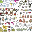 Royalty-Free Stock Vector Image: Mix of doodle images in vector. vol. 2