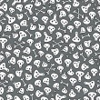 Skulls and bones seamless pattern. - Stockvectorbeeld