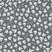 бесшовный узор из черепов и костей. — Cтоковый вектор