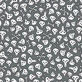 Schedels en beenderen naadloze patroon. — Stockvector