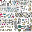 Royalty-Free Stock Vector Image: Mix of doodle images in vector. vol. 4