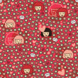 Valentine seamless pattern. — Stockvectorbeeld
