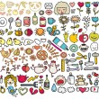 Royalty-Free Stock Vector Image: Mix of doodle images in vector. vol. 5