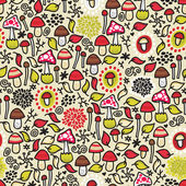 Seamless pattern with mushrooms. — Stock Vector