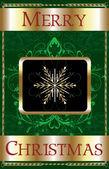 Merry Christmas Snowflake — Stock Vector