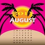 August 2011 — Stock Vector