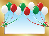 Balloon Background Frame — Stock Vector