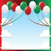 Christmas Balloon Background — Stock Vector