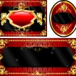 Royal Template Set Red - Stock Vector