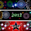 New Year Firework Banners — Stock Photo #4534210