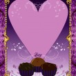 Royalty-Free Stock Vector Image: Purple Chocolate Card