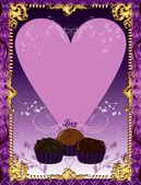 Purple Chocolate Card — Stock Vector