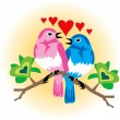 Love Birds - Stockvektor