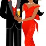 Valentine Couple 1 — Stock Vector