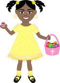 Easter Egg Girl — Stock Vector