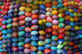 Many color bright eggs — Stock Photo