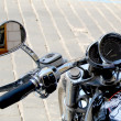 Wheel with a mirror from a motorcycle — Stock Photo