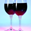 Two wine glasses filled with red wine — Stock Photo