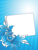 Card. Blue card to birthday — Stock Photo