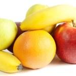 Includes banana, apple, orange, grapefruit and mandarin. — Stock Photo #4291937