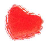 Pillow heart isolated on white — Stockfoto