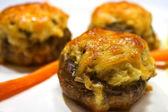 Baked mushrooms stuffed — Stock Photo