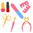 Vector manicure and pedicure tools — Stock Photo