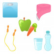 Royalty-Free Stock Vector Image: Diet icons