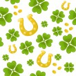 Stock Vector: Seamless St.Patricks day background