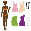Paper doll - Stock Vector