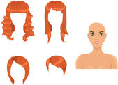 Set of woman haircuts — Stock Vector