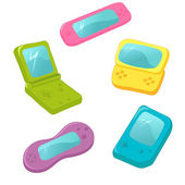 Set of cute vector game consoles — Vecteur